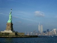 Statue of Liberty and the World Trade Center
